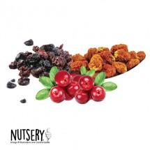 Raisins, Cranberries et Physalis